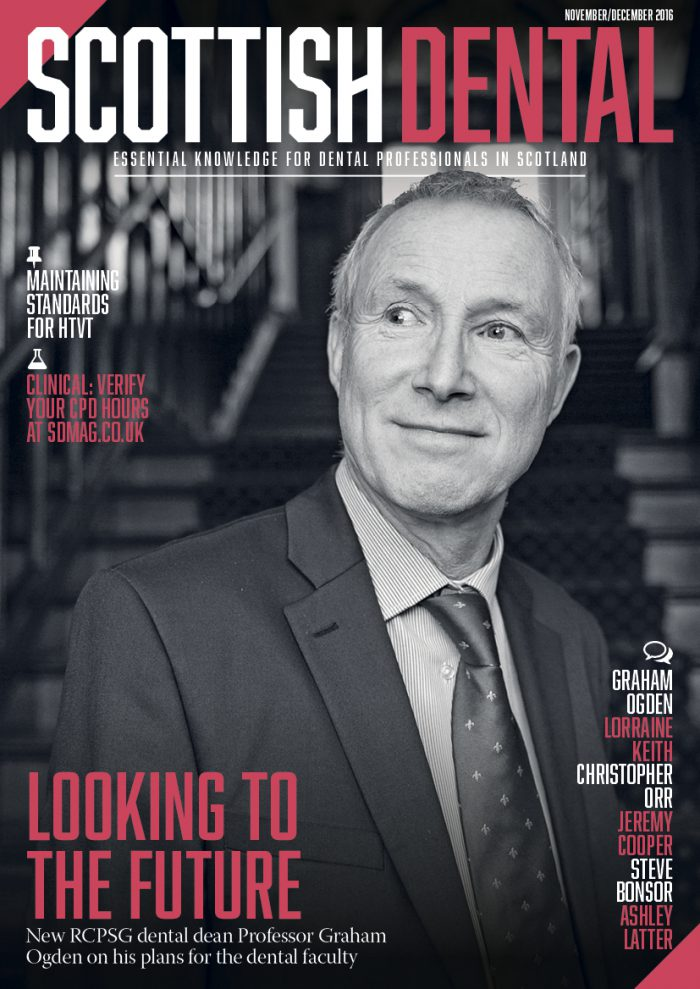 Looking to the future – Scottish Dental magazine, November 2016. Cover image