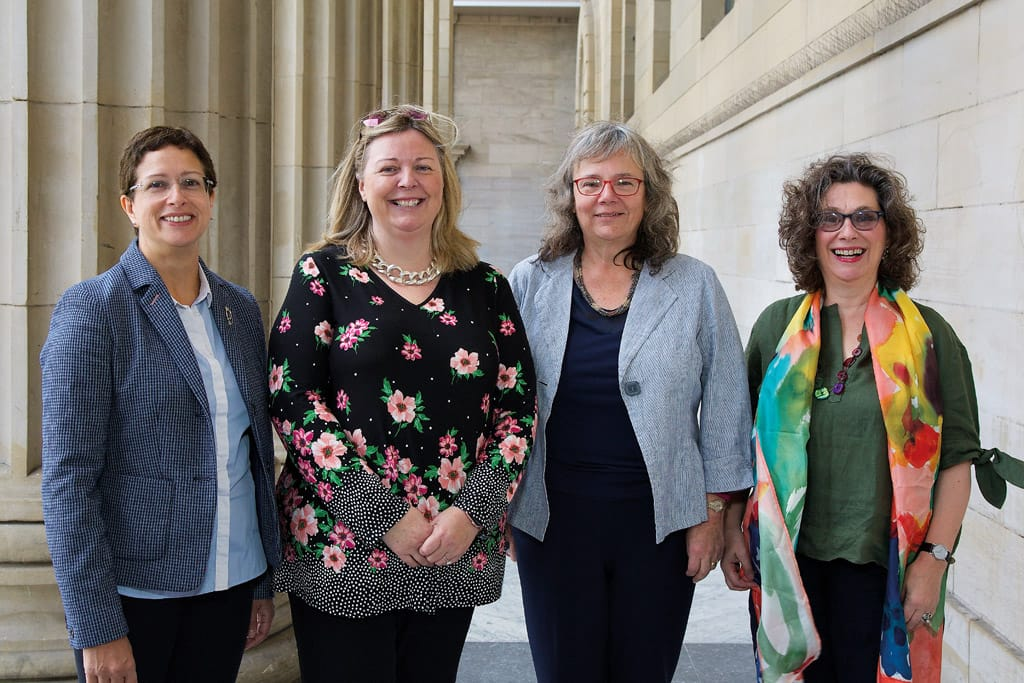 The four chief investigators on the FiCTION trial: (l-r) Professors Nicola Innes, Gail Douglas, Anne Maguire and Jan Clarkson