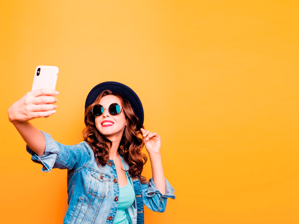 Young lady taking a selfie