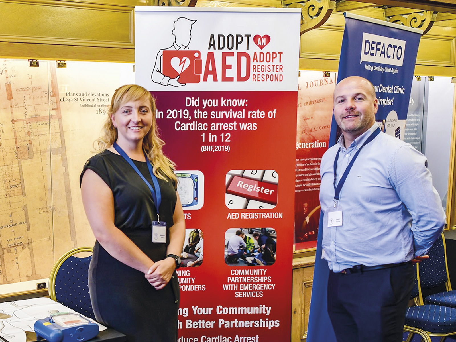 The adopt an AED team at a recent event